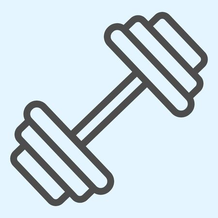 Dumbbells line icon. Heavy weights barbel.