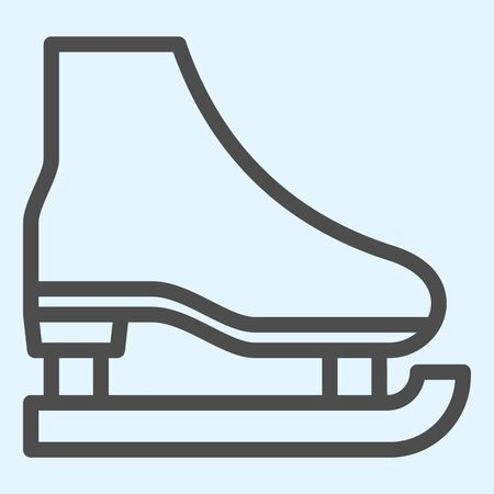 Skate line icon. Shoes for playing hockey on ice. Stock Illustratie