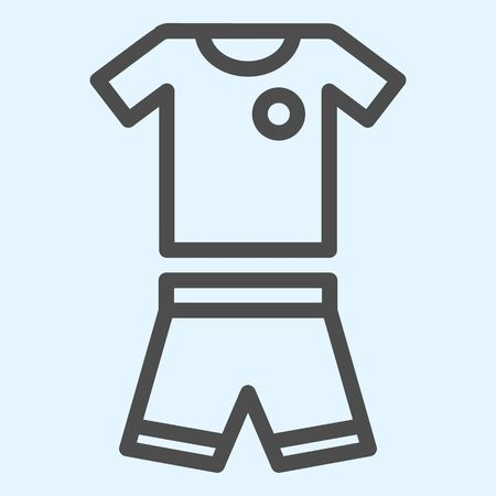 Suit line icon. Shorts and t-shirt, baseball or football uniform cloth. Stock Illustratie