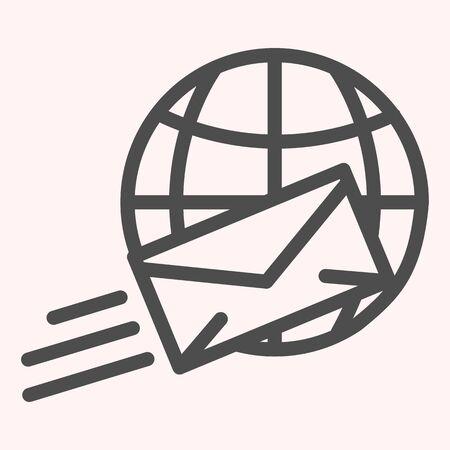 International mail line icon.