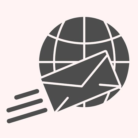 International mail glyph icon.