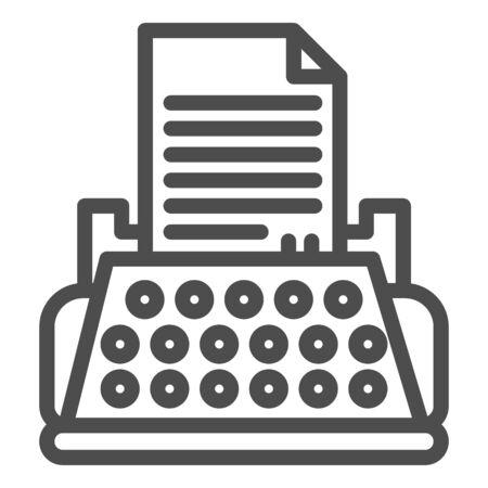 Typewriter line icon. Ilustrace