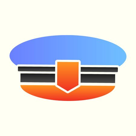 Postman cap line icon. Mail man hat, uniform clothes. Postal service  design concept
