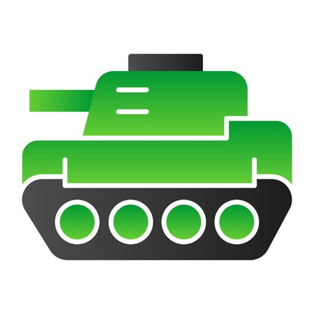 Tank flat icon. Panzer vector illustration isolated on white. Armor gradient style design, designed for web and app. Eps 10.