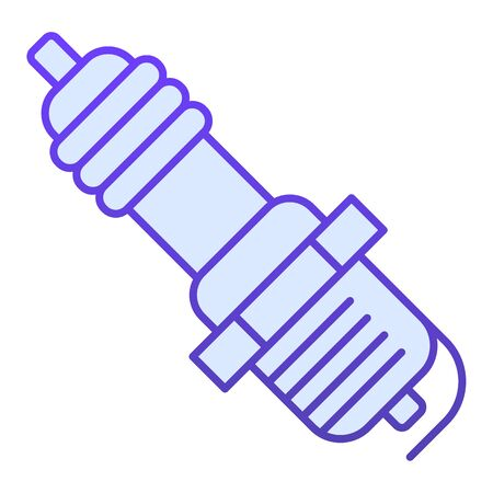 Spark plug flat icon. Car candle vector illustration isolated on white. Ignition gradient style design, designed for web and app. Eps 10. Illustration