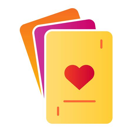 Playing cards flat icon. Casino vector illustration isolated on white. Games gradient style design, designed for web and app.
