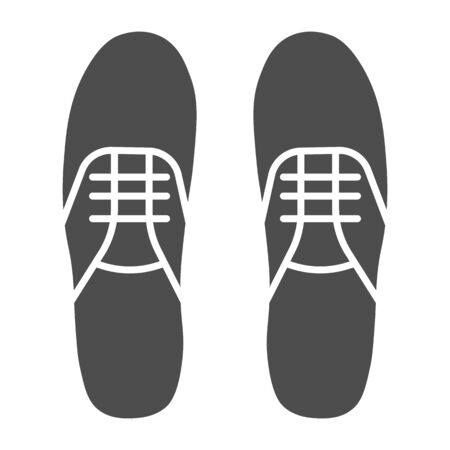 Sneakers solid icon, footwear concept, gumshoes sign on white background, sport shoes icon in glyph style for mobile concept and web design. Vector graphics.
