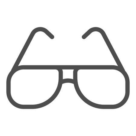 Sunglasses line icon, summer concept, Aviator sunglasses sign on white background, Sun protection glasses icon in outline style for mobile concept and web design. Vector graphics