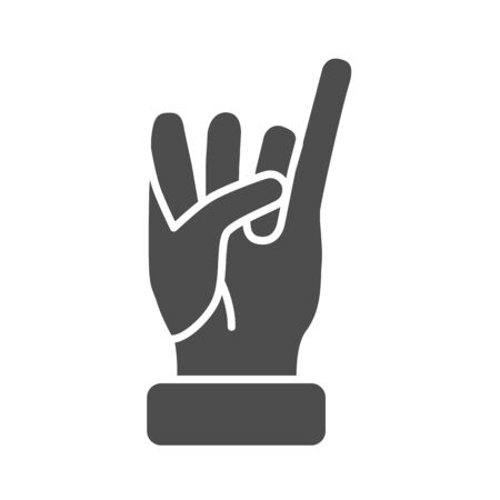 Little finger of human hand raised up solid icon, gestures concept, little finger making promise sign on white background, gesture of promise icon in glyph style for mobile. Vector graphic.