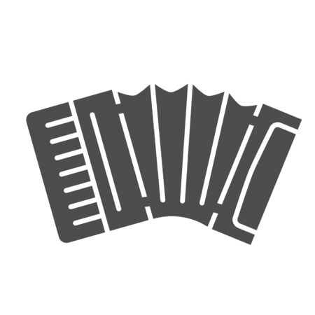 Accordion solid icon, Music instruments concept, Classical bayan sign on white background, harmonic icon in glyph style for mobile concept and web design. Vector graphics. Vecteurs