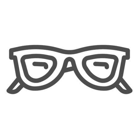 Sunglasses line icon, Summer accessories concept, glasses sign on white background, eyeglasses icon in outline style for mobile concept and web design. Vector graphics.