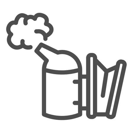Beekeeping smoker line icon, beekeeper tools concept, Smoker for bees sign on white background, Apiary smoker icon in outline style for mobile concept and web design. Vector graphics. Illustration