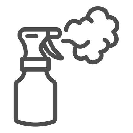 Insect spray line icon, agriculture and farming concept, Antibacterial spray sign on white background, Bug sprayer icon in outline style for mobile concept and web design. Vector graphics.