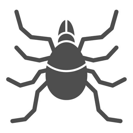 Mite solid icon, Insects concept, acarus sign on white background, tick icon in glyph style for mobile concept and web design. Vector graphics.