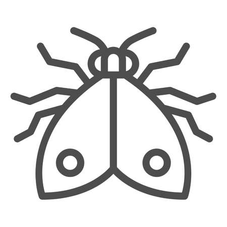 Bedbug line icon, pests concept, chinch sign on white background, home bedbug icon in outline style for mobile concept and web design. Vector graphics.