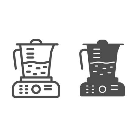 Juicer line and solid icon, Kitchen appliances concept, Blender sign on white background, squeezer icon in outline style for mobile concept and web design. Vector graphics. Illustration