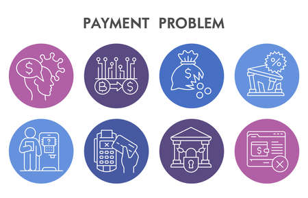 Modern Payment problem Infographic design template. Investment problems Infographic visualization on white background. Banking template for presentation. Creative vector illustration for infographic.