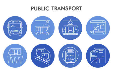 Modern city public transport Infographic design template with icons. Public transportation Infographic visualization in bubble design on white background. Creative vector illustration for infographic.