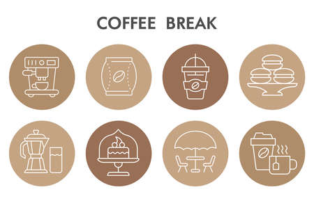 Modern Coffee time Infographic design template with icons. Coffee Infographic visualization on white background. Lunch break template for presentation. Creative vector illustration for infographic.