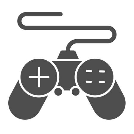 Gamepad solid icon, Coworking concept, joystick sign on white background, controller for video games icon in glyph style for mobile concept and web design. Vector graphics.