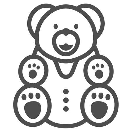 Chocolate Bear line icon, Chocolate festival concept, Bear candy sign on white background, sweet teddy bear icon in outline style for mobile concept and web design. Vector graphics. 向量圖像