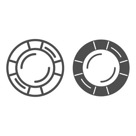 Lifebuoy line and solid icon, Sea cruise concept, Life saver ring sign on white background, Lifebuoy symbol in outline style for mobile concept and web design. Vector graphics.