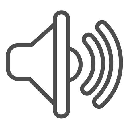 line icon, Sound design concept, sign on white background, icon in outline style for mobile concept and web design. Vector graphics.