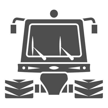 Snowblower solid icon, World snow day concept, snow professional cleaning machine sign on white background, snow plow tractor icon in glyph style for mobile and web. Vector graphics.
