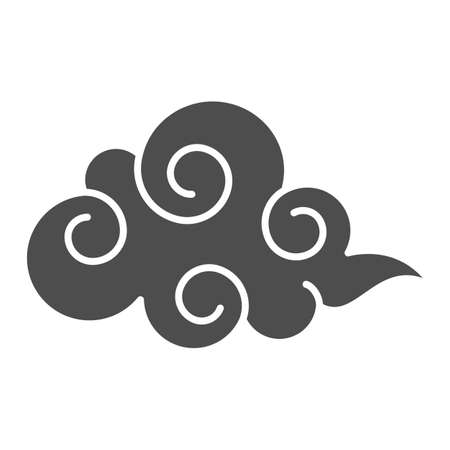 Cloud solid icon, weather forecast concept, overcast sign on white background, cloudy sky icon in glyph style for mobile concept and web design. Vector graphics.