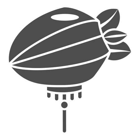 Chinese lantern solid icon, chinese mid autumn festival concept, paper lantern with rope sign on white background, flashlight from china icon in glyph style for web design. Vector graphics. Stock Illustratie