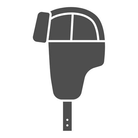 Hat with ear flaps solid icon, Winter clothes concept, Men hat sign on white background, Ear flap winter hat icon in glyph style for mobile concept and web design. Vector graphics.
