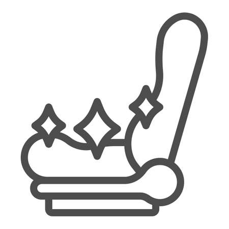Clean car seat line icon, car washing concept, shiny car seat sign on white background, vehicle chair cleaning icon in outline style for mobile concept and web design. Vector graphics. Vektorgrafik