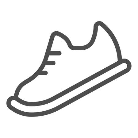 Bowling shoes line icon, bowling concept, Sneakers sign on white background, sport footwear icon in outline style for mobile concept and web design. Vector graphics. 向量圖像