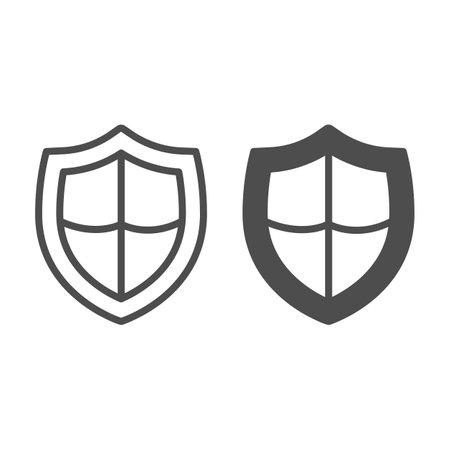 Antivirus emblem line and solid icon, pcrepair concept, antivirus emblem vector sign on white background, antivirus emblem outline style for mobile concept and web design. Vector graphics.
