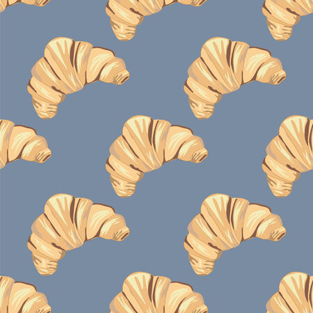 fragrant: vector pattern fragrant baking delicious French croissant