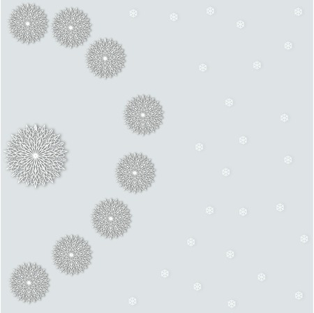gentle background: Christmas gentle background with falling snowflakes small