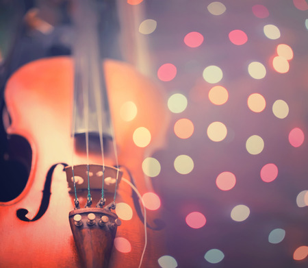 abstract musical background with violin toned photo photo