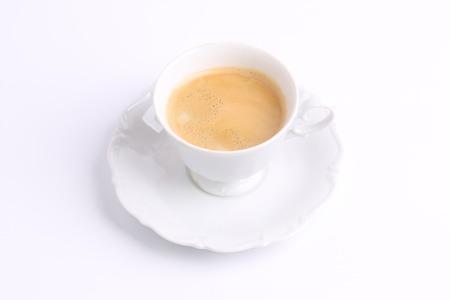 chicory coffee: coffee white mug isolated on white background ceramic china chicory Stock Photo