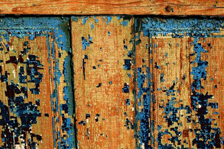 crannied: Old wooden abstract background with cracked paint