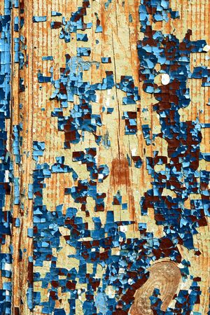 exfoliate: Old wooden abstract background with cracked paint