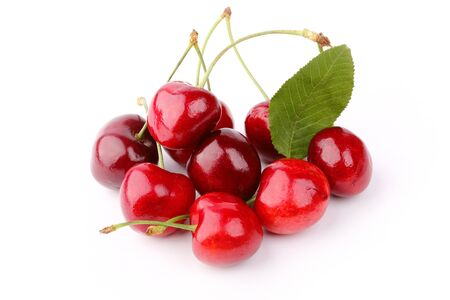 cherry: cherry isolated on a white background