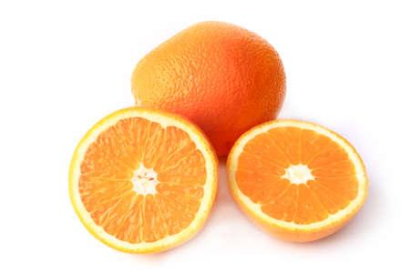 sliced orange: sliced orange isolated on white background Stock Photo