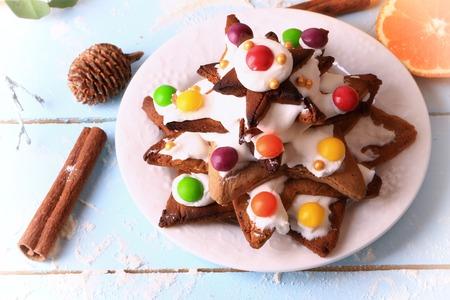 galletas de jengibre: �rbol de Navidad de galletas de jengibre pasteles caseros