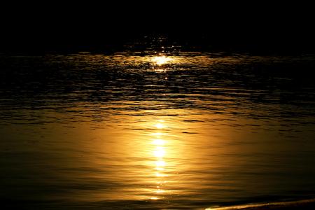 Moonlight on water night river