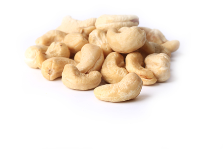 cashew nuts: Cashew nuts isolated on a white background eco organic healthy lifestyle soft selective focus