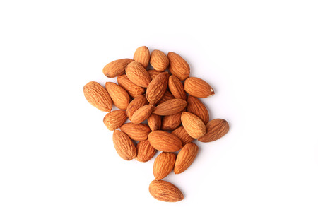 almond: Almonds isolated on white background