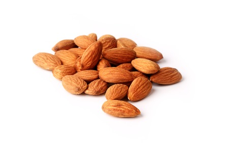 Almonds isolated on white background Imagens - 49036510