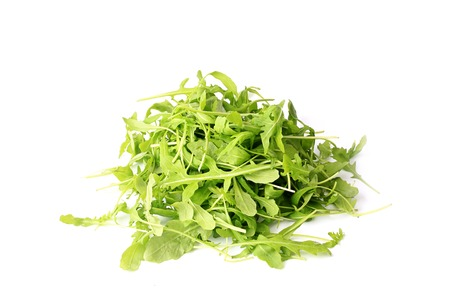 roquette: arugula salad isolated on white background healthy lifestyle, green eco life diet