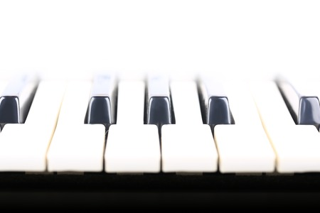 acoustically: piano keys musical background