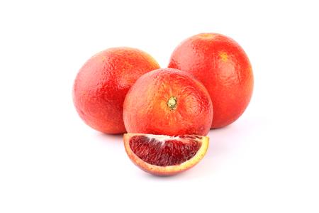 red orange isolated on white background blood orange